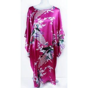 Vintage 70's Japanese Kimono, Kaftan, Robe, Mumu